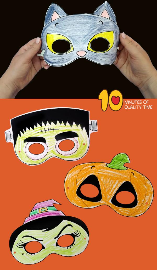 halloween paper masks diy