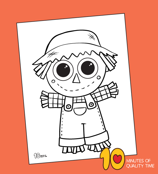 scarecrow coloring pages for preschool