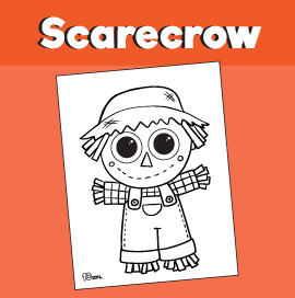 Scarecrow Coloring Sheet