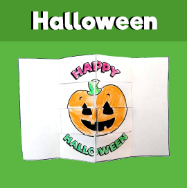 Surprise Woven Card for Halloween