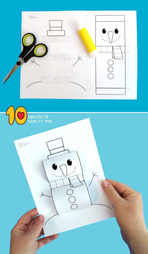 snowman craft preschool