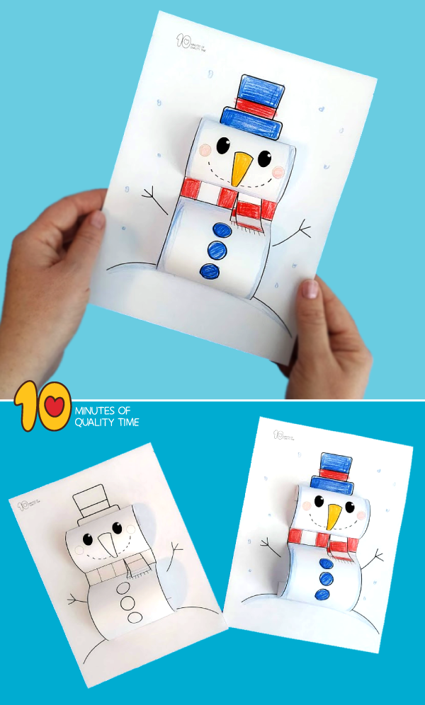 snowman craft kindergarten