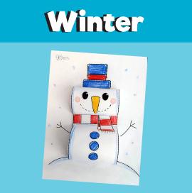 3D Snowman Craft