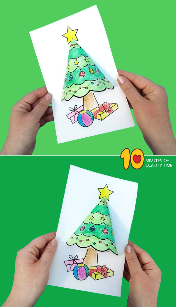 3d christmas tree template