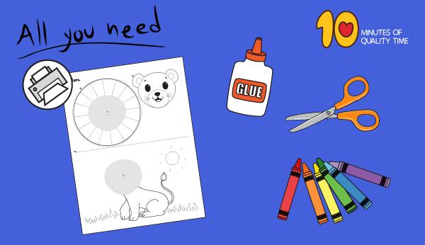 lion craft preschool
