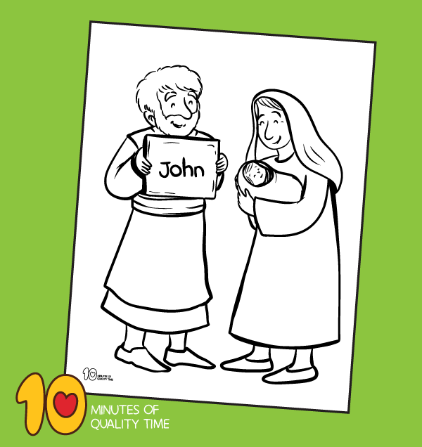 john the baptist coloring sheet