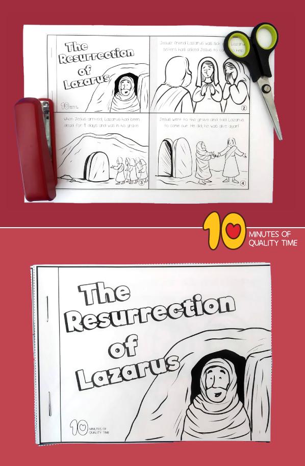 lazarus story for preschoolers