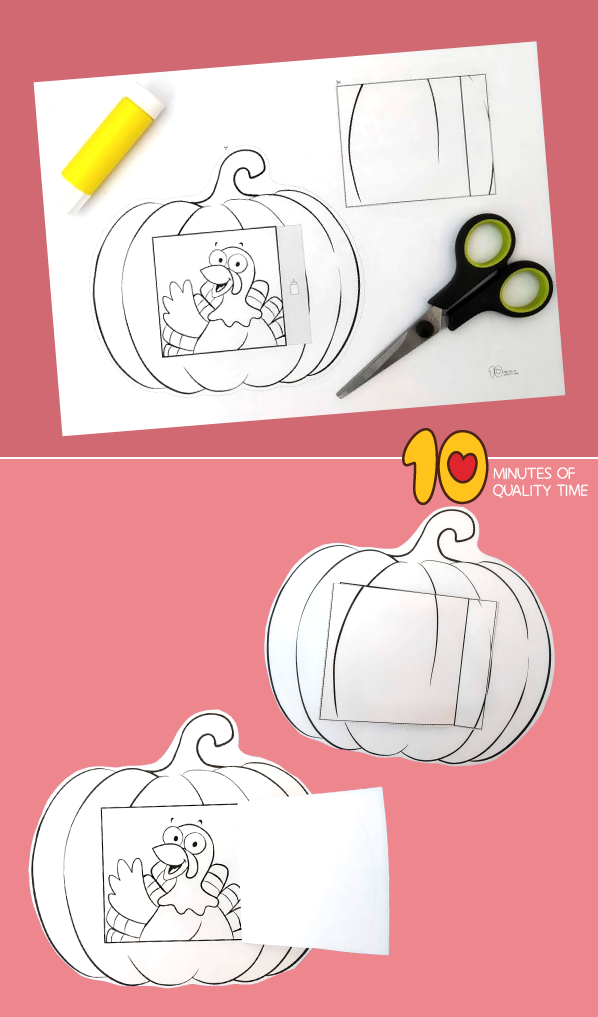 pumpkin turkey craft template