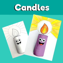 3D Paper Candle Craft