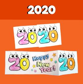 Happy New Year 2020 Card