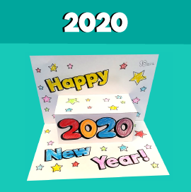 New Year Pop Up Card 2020