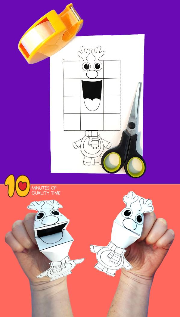 reindeer finger puppet craft