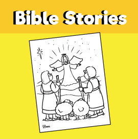 The Shepherds and the Angel Coloring Page