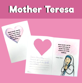 Mother Teresa Quote - Kind Words Card
