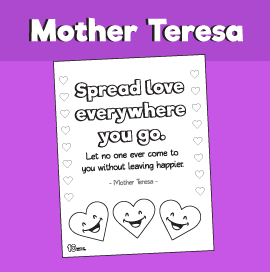 Spread Love Everywhere You Go - Coloring Page