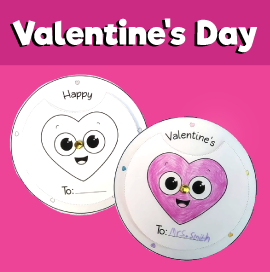 Valentine's Day Rotating Wheel Card