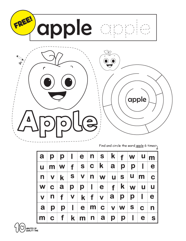 early reading printables