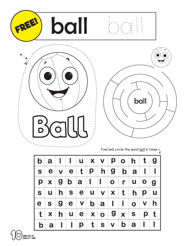 early reading skills worksheets