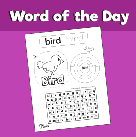 Word of the day bird