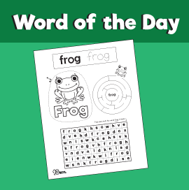 Word of the Day #14 - Frog