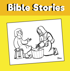 Jesus Washes the Feet of His Disciples Coloring Page