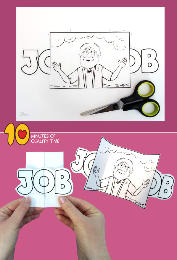 job bible lesson craft