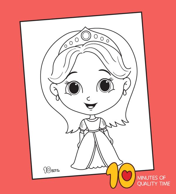 princess coloring sheets