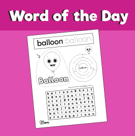 Word of the Day #15 - Balloon