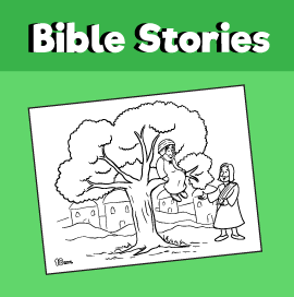 Zacchaeus Coloring Page