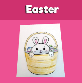 Easter Bunny in a Basket 3D Craft