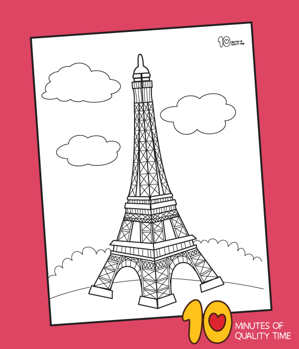 - Eiffel Tower Coloring Page – 10 Minutes Of Quality Time