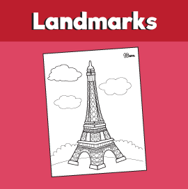 Eiffel Tower Coloring Pages   360ColoringPages   272x270