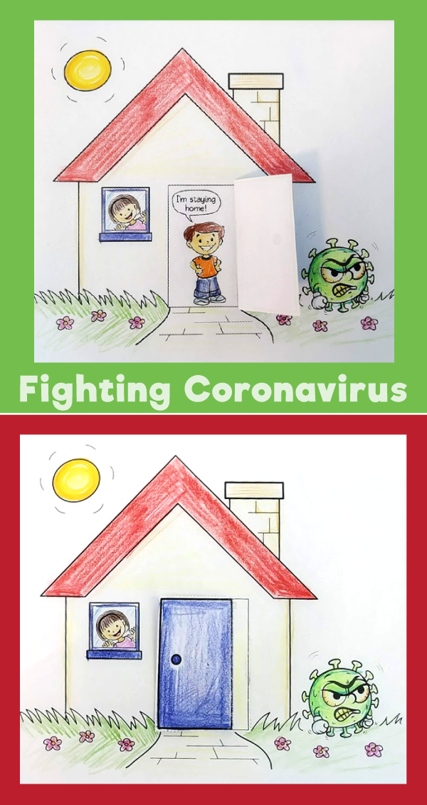Fighting Coronavirus Staying Home Craft 10 Minutes Of