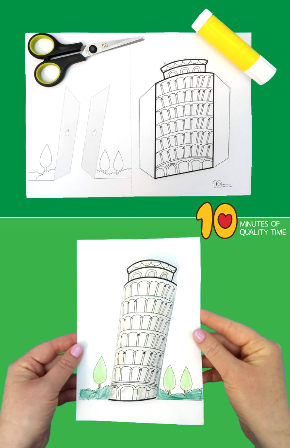 leaning tower of pisa craft activity