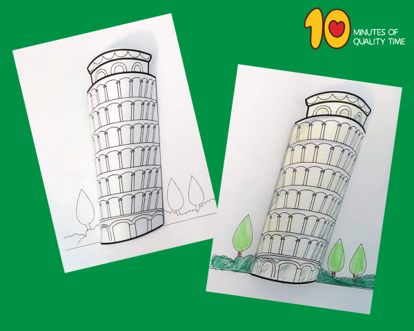 leaning tower of pisa craft project