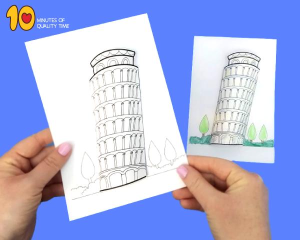 leaning tower of pisa preschool craft