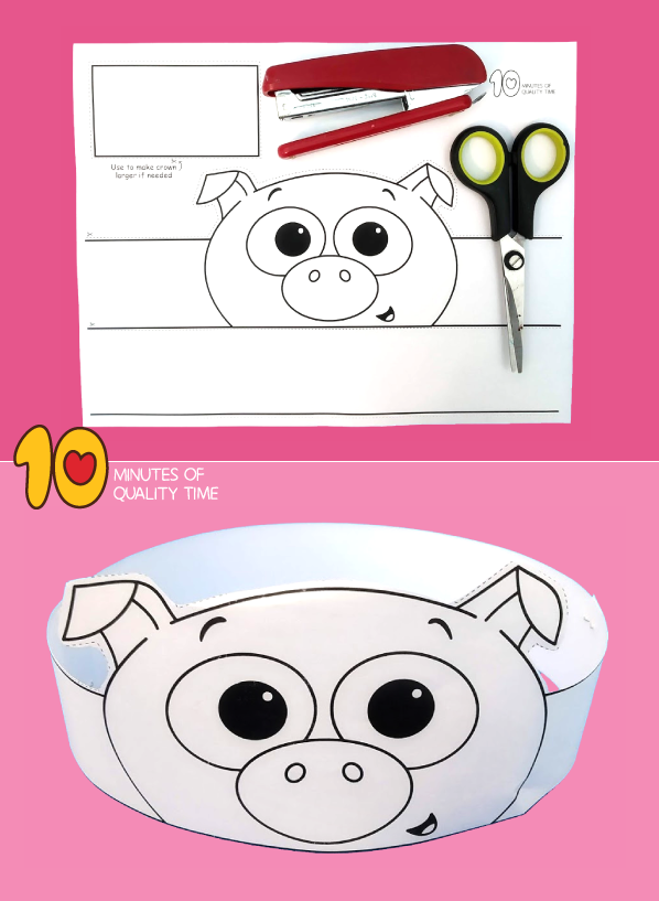 pig craft template