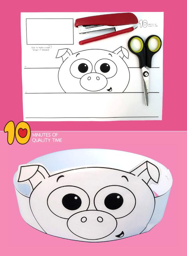 pig craft template