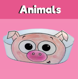 Pig Crown Template