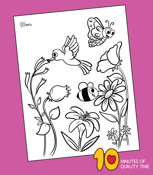 pollination coloring pages