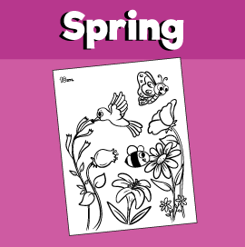 Animals That Help in Pollination Coloring Page