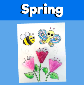 Spring Flowers 3D Craft