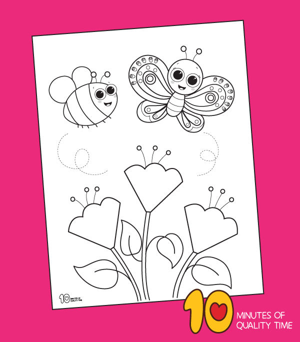 spring coloring page printable