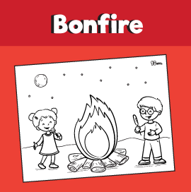 Bonfire Coloring Page