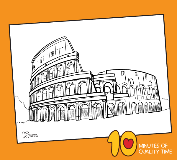 colosseum coloring sheet