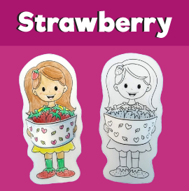 Girl With Strawberries Craft