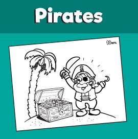 Pirate's Treasure Coloring Page