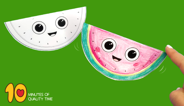 watermelon craft template