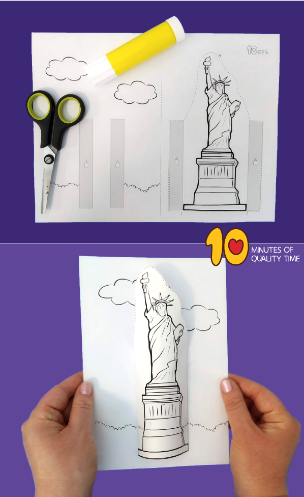 statue of liberty craft template