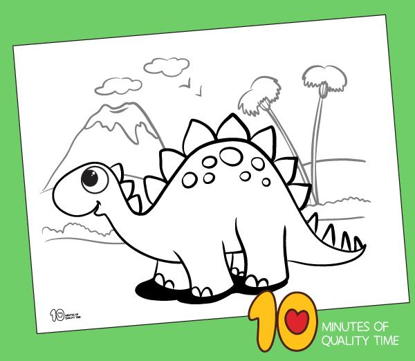 stegosaurus printable coloring page